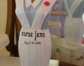 OOAK Nurse RN Dress Form Nursing School Graduation Gift Decor Celebration Customized Name and Date