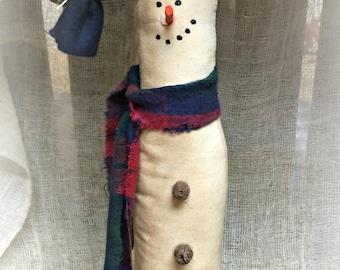 Tall Skinny Snowman | Primitive Snowman | Snowman decor | Fabric snowman | Primitive holiday decor