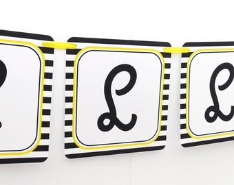 Name Banner - Made to Match Bumble Bee Party Birthday Banner