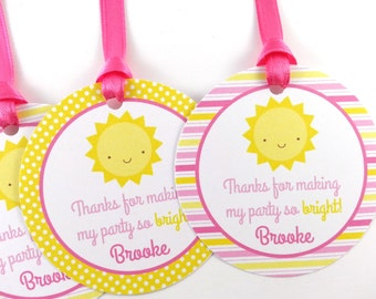 You Are My Sunshine Party Favor Tags, Sunshine Birthday Favor Tags, Sunshine Tags, Sunshine Party Decorations - SET OF 12