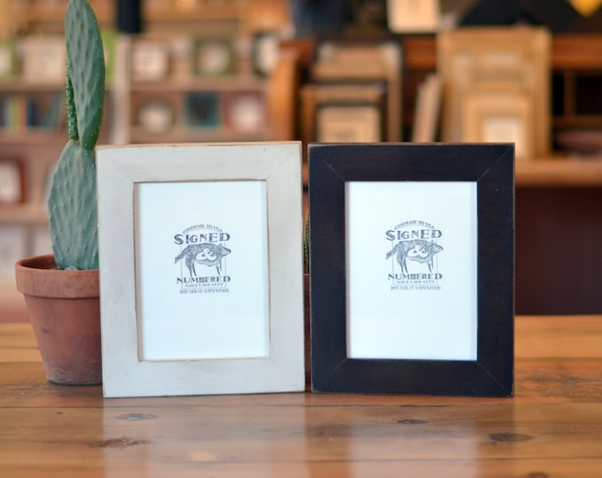 "6x8"" Picture Frame in 1.5-inch standard Style and Color OF YOUR CHOICE - Handmade Wooden 6x8 Photo Frame - 6x8 Art Frame"