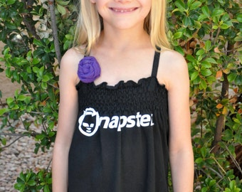 The NAPSTER UPCycled T Shirt Dress One Size Fits 2T - 6 Original Design