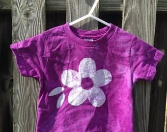 Flower Girls Shirt, Girls Flower Shirt, Purple Flower Shirt, Purple Girls Shirt, Kids Flower Shirt, Purple Kids Shirt (18 months)