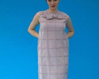 Vintage 1970s Hipster Mod Sparkle and Shine Dress