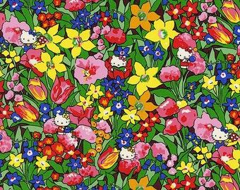 Liberty Tana Lawn Fabric, Liberty Japan Limited, Rico & Floris, Liberty Print Cotton Scrap, Kawaii Patchwork Fabric, Cute Quilt Fabric, t90f