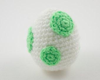 Yoshi's Woolly World Egg crochet amigurumi