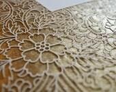 NEW Ketubah Papercut by Jennifer Raichman - Trellis - Metallic Gold