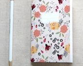 Mini Journal, Booklet, Jotter, Pocket Notebook - Strawberry Field
