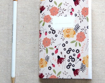 Mini Journal, Booklet, Jotter, Pocket Notebook - Strawberry Field