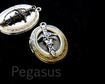 Vorpal sword Locket from Alice in Wonderland (9 wonderland design options) bronze or silver locket for cosplay,larp,birthday,wedding favor