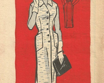 Vintage 50s Mail Order Sewing Pattern 9001 / Dress / Bust 39
