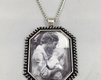 Custom Photo Necklace, Photo Pendant, Custom Photo Jewelry, Your photo on a necklace, custom photo necklace, custom photo key chain, Octagon