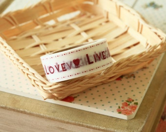 country craft LIVE LAUGH LOVE paper masking tape