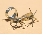 Nickel Silver Blank Adjustable Ring Claw Setting For Natural Stones or Whatever