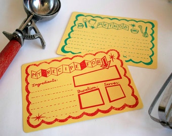 Atomic Kitchen Screen Printed Recipe Cards - Hand Printed Cards
