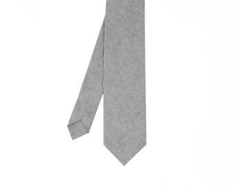 Florent - Gray Cotton Men's Tie