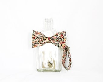 Molly - Pink Red Floral Men's Pre-Tied Bow Tie or Self-Tied Bow Tie