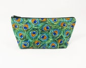 Peacock Cosmetic Pouch Shaving Toiletry Bag
