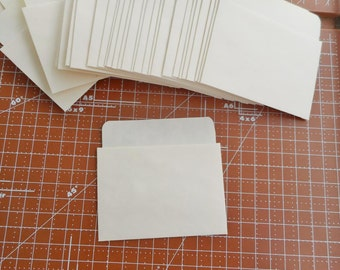 50 Library Card Pockets Non-Adhesive Low Back