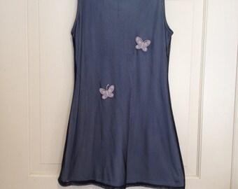 90s Mesh Butterfly Mini Dress Club Kid Sporty Cyber Sleeveless