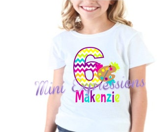 Art Palette Birthday Shirt or Bodysuit Personalized With Any NAME and AGE