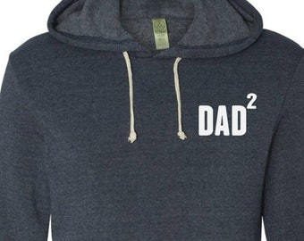 Dad Gift Mens Hooded Sweatshirt DAD 2 Eco-Fleece Hooded Pullover Husband Pullover Gift Fathers Day