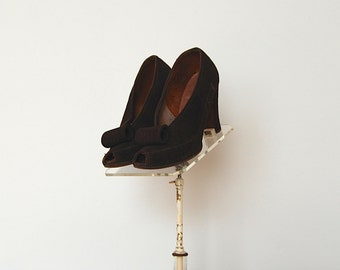 ON SALE - Vintage 1940s Shoes - 40s High Heels - The Greta