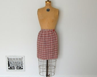 Vintage 1960s Skirt - 60s Wrap Skirt - The Leah