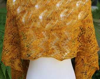 Pattern Only Annushka Crescent Shaped Lace Shawlette or Scarf