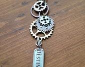 Steampunk Destiny Gears Pendant, Steampunk Necklace, Industrial Pendant
