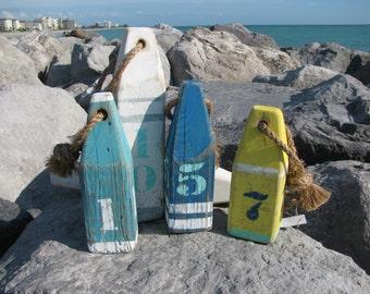 Wood Buoy. Wooden Buoys. Handmade Nautical Decor. Beach Decor. Lake Decor Made to order.