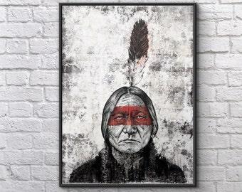 Sitting Bull - 18x24 Archival Art Print