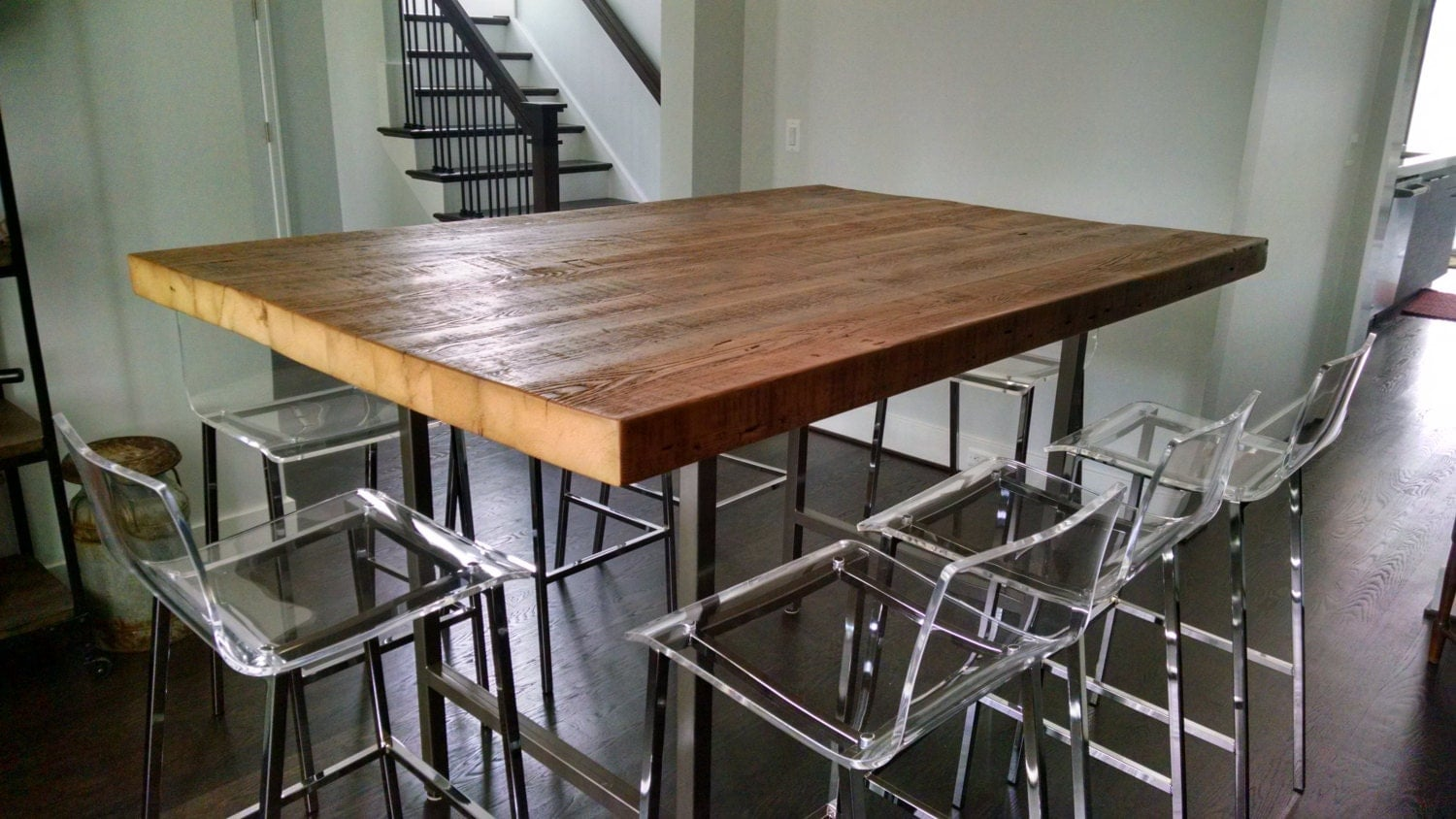 high top tables pub table with and steel legs in your choice of color size 29152