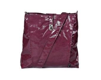 Backpack and Messenger bag Vegan purple, 2 IN 1, Laptop 13 backpack, multiple pockets, Vegan Shoulder Bag,  Leah