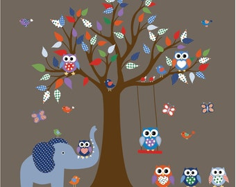 Wall Decals Nursery Tree Decal  Vinyl Wall Decal - Kids Wall Decals - Daycare Wall Decals