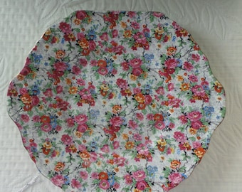 Plate Display Chintz Cake Plate Platter - 1930s Lord Nelson Chintz- Chintz Collector- Plate for display- Handled Platter - Flowered Plate