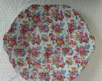 Vintage Lord Nelson Chintz Marina Cake Plate Platter 1930s Great Britain Cottage Chic