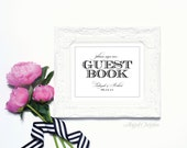 Guest Book - 8 x 10 Wedding Poster or Art Print by Abigail Christine Design