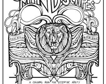 churning mindscapes a coloring book for eccentric adults - Trippy Coloring Book