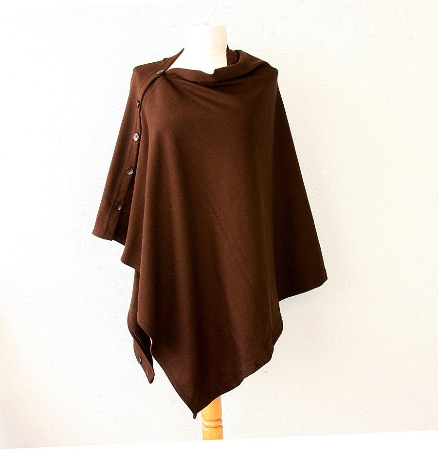 Womens Brown Shrug Sweater