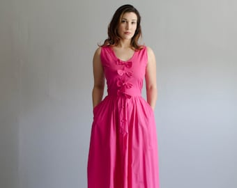 Vintage 1980s does 1950s Style Dress - 80s Summer Dress - Hello Gorgeous Dress