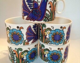 Acapulco Pop Art Mod Tea Cups by Villeroy and Boch