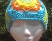 Crochet Bohemian Headband, Hippie, 1970's Style Headband