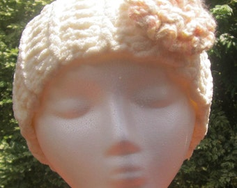 Crochet Headband with Rosette