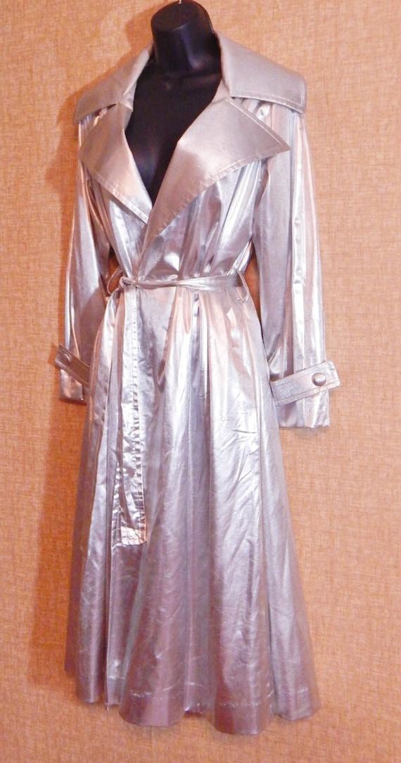 Silver lamé Coat