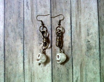 White Skull Earrings (1560)