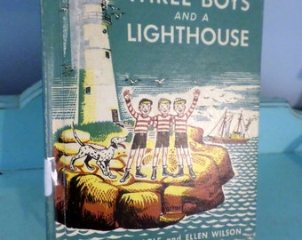 Children's Book vintage 1951 Three Boys and a Lighthouse by Nan Hayden Agle and Ellen Wilson 1951 adventure fun reading