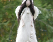 Christmas tree topper Needle felted Waldorf inspired Ornament Christmas angel