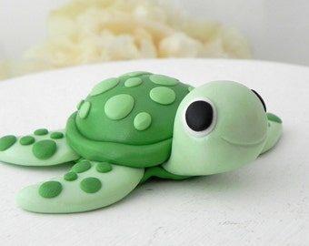 Baby Turtle Cake Topper, Birthday or Baby Shower, Keepsake, Nursery Decor