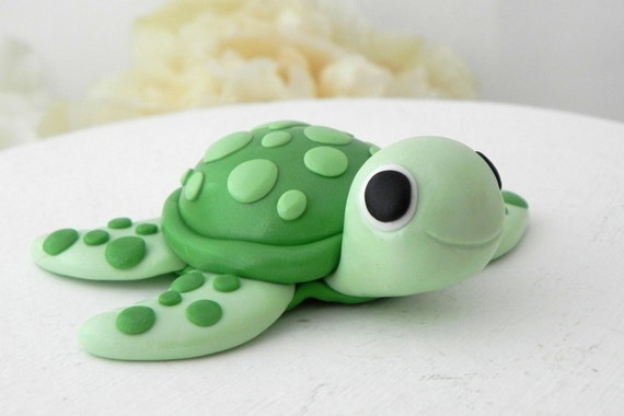 sea turtle wedding cake topper baby turtle cake topper birthday or baby shower keepsake 19729